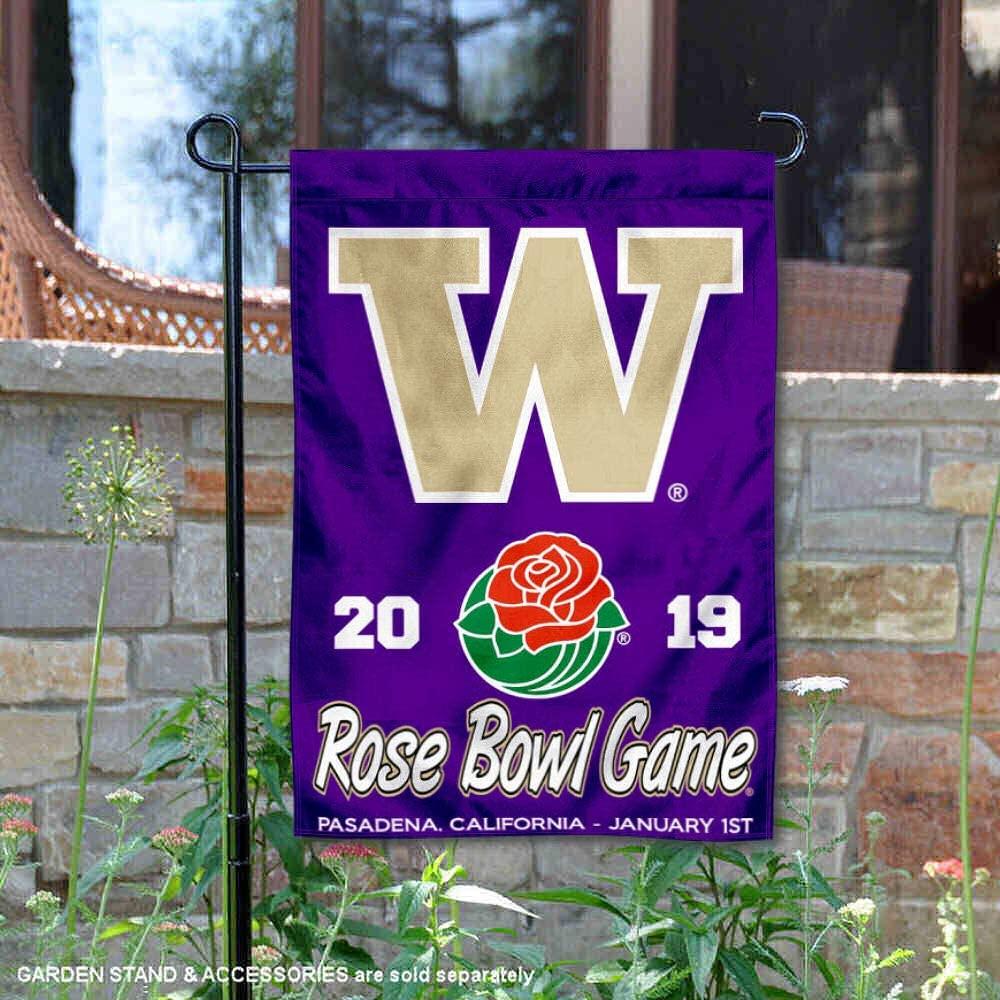College Flags & Banners Co. Washington Huskies 2019 Rose Bowl Game Garden Flag