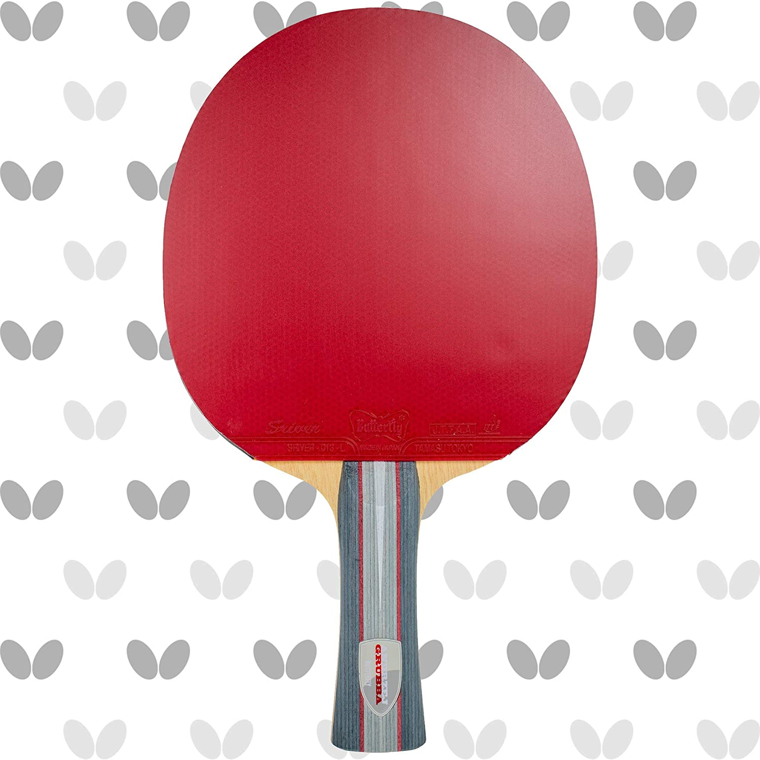 Butterfly Saboteur Pro-Line Table Tennis Racket - Excellent for Players Using A Modified Shakehand Grip (Seemiller Grip) - Recommended for Advanced Level Players - Pro-Line Series