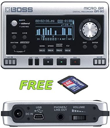 Boss Micro BR BR-80 Digital Recorder with a Free Patriot 32GB SD Card