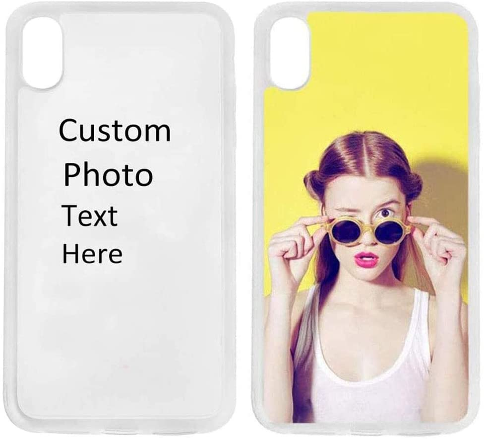 Custom iPhone Xs Max Case TPU Shock Absorbing Personalized Photo Phone case for iPhone Xs Max - Design Your Own iPhone Case(iPhone Xs MAX White)