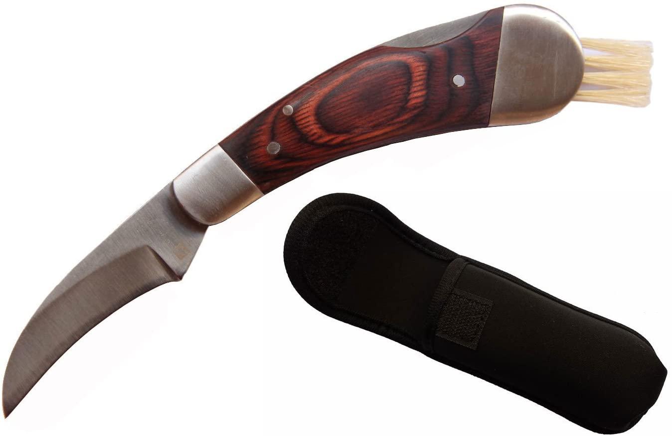 Classic Outdoors Folding Lock Mushroom Knife Fungus Truffles Harvest Hunting Sharp Knives with Neoprene Pouch