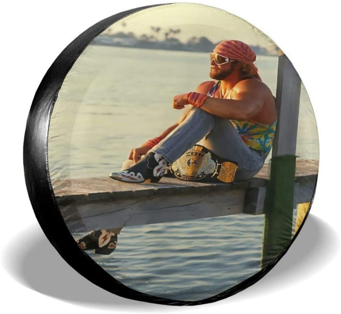 Randy Savage Spare Tire Cover Not All Those Who Wander are Lost for Jeep Trailer Rv Truck 14 15 16 17 Inch Sunscreen Dustproof Corrosion Proof Wheel Cover