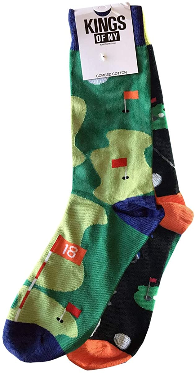 Golf Sporty Mismatched Funny Novelty Mens Cotton Socks