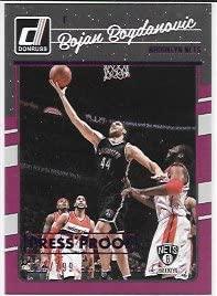 Bojan Bogdanovic 2016-17 Donruss Press Proofs Purple #21/199 Brooklyn Nets Card #82