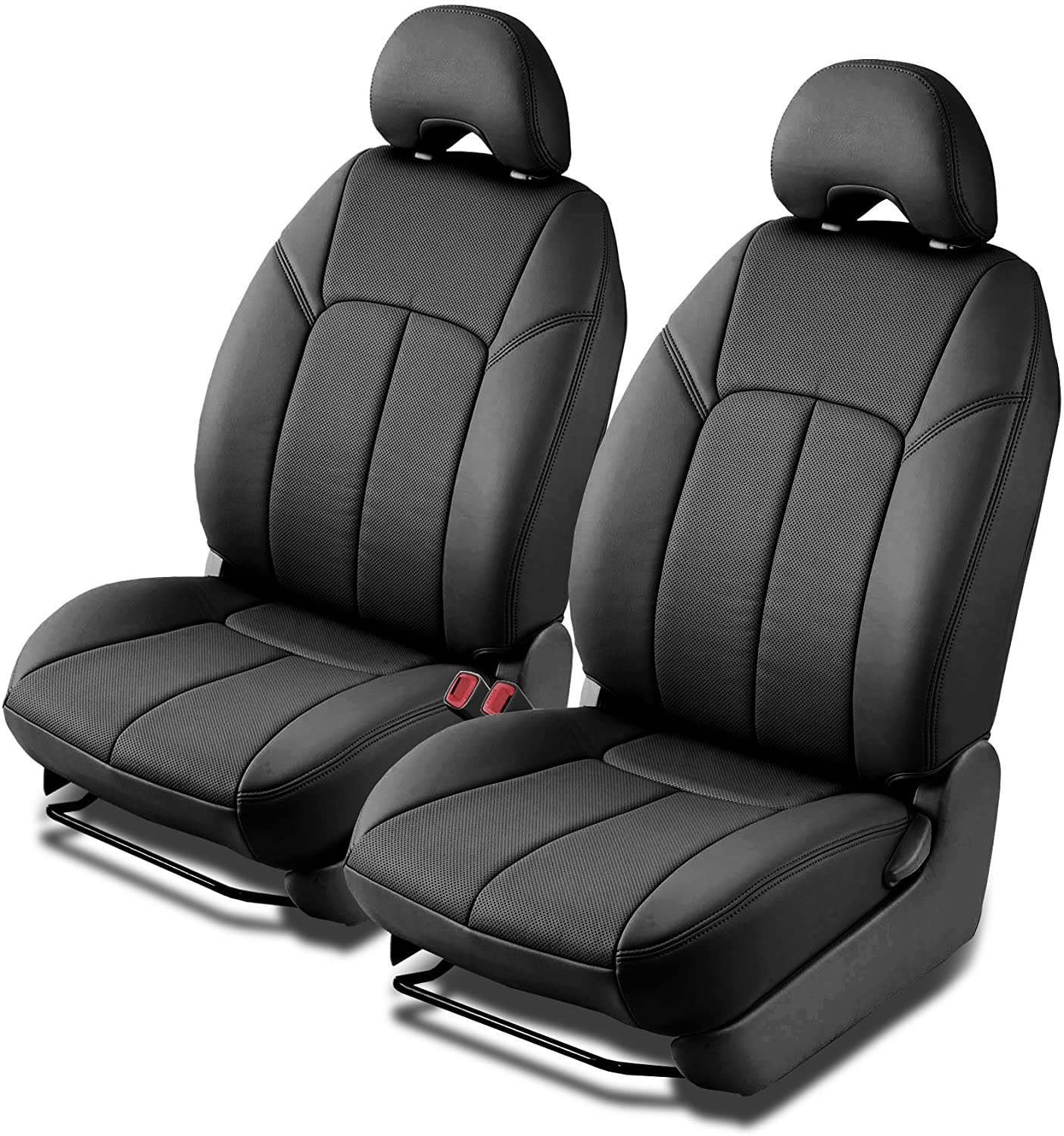 Clazzio 256011blkk Black Leather Front Row Seat Cover for Toyota Highlander, 1 Pack