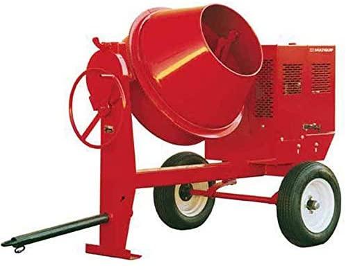 Bon Tool 35-200 Concrete Mixer Steel-Drum 4 Cu Ft, 0.5-Hp 115-Volt Electric Motor Whiteman