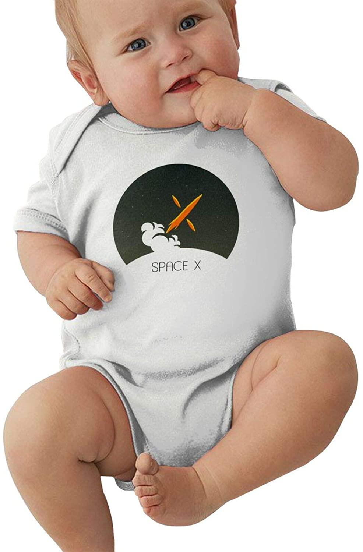 10sdaklasd Spacex Infant Romper Warm Baby Jersey Creeper Bodysuit Printed Onesies White