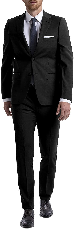 Calvin Klein Men's Short Skinny Fit Stretch Suit, Black, 36S