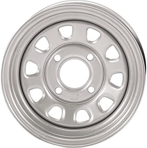 ITP Delta Steel Wheel - 12x7 - 4+3 Offset - 4/156 - Silver , Wheel Rim Size: 12x7, Rim Offset: 4+3, Color: Silver, Bolt Pattern: 4/156, Position: Front/Rear D12T156