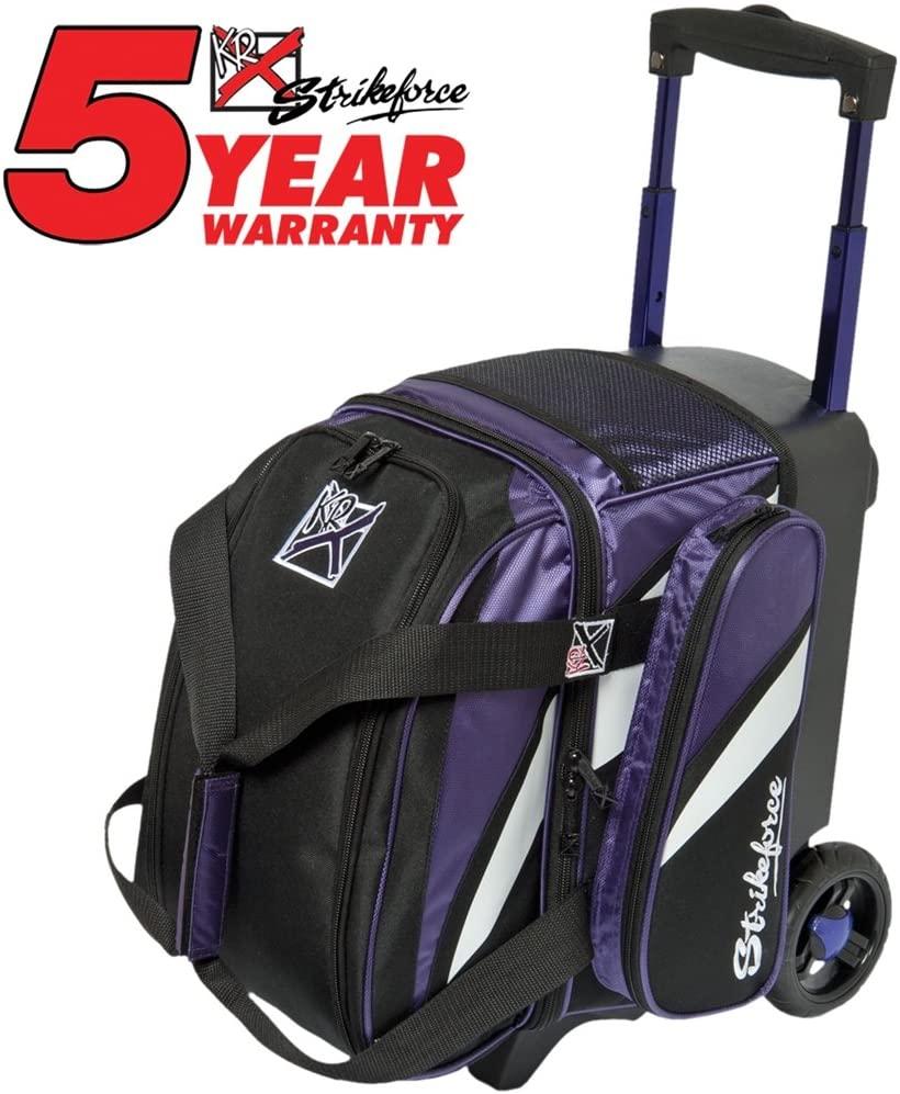KR Cruiser Single Roller Bowling Bag- Black/Purple/White