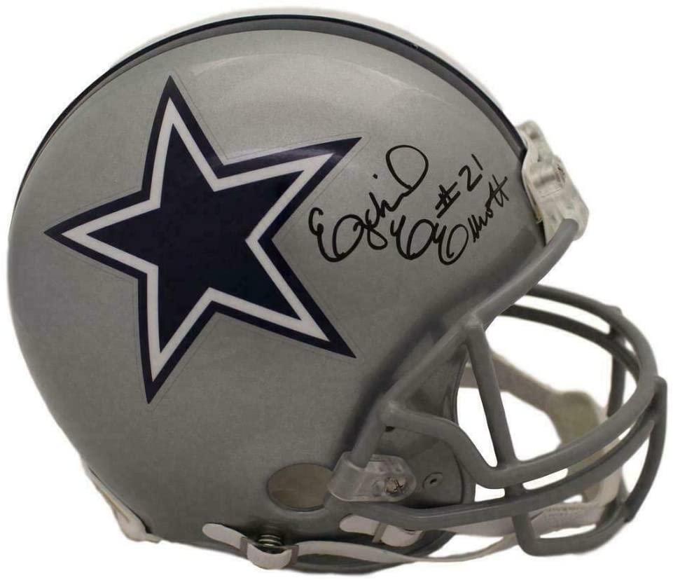 Ezekiel Elliott Autographed/Signed Cowboys Proline Helmet BAS 22250 - Autographed NFL Helmets