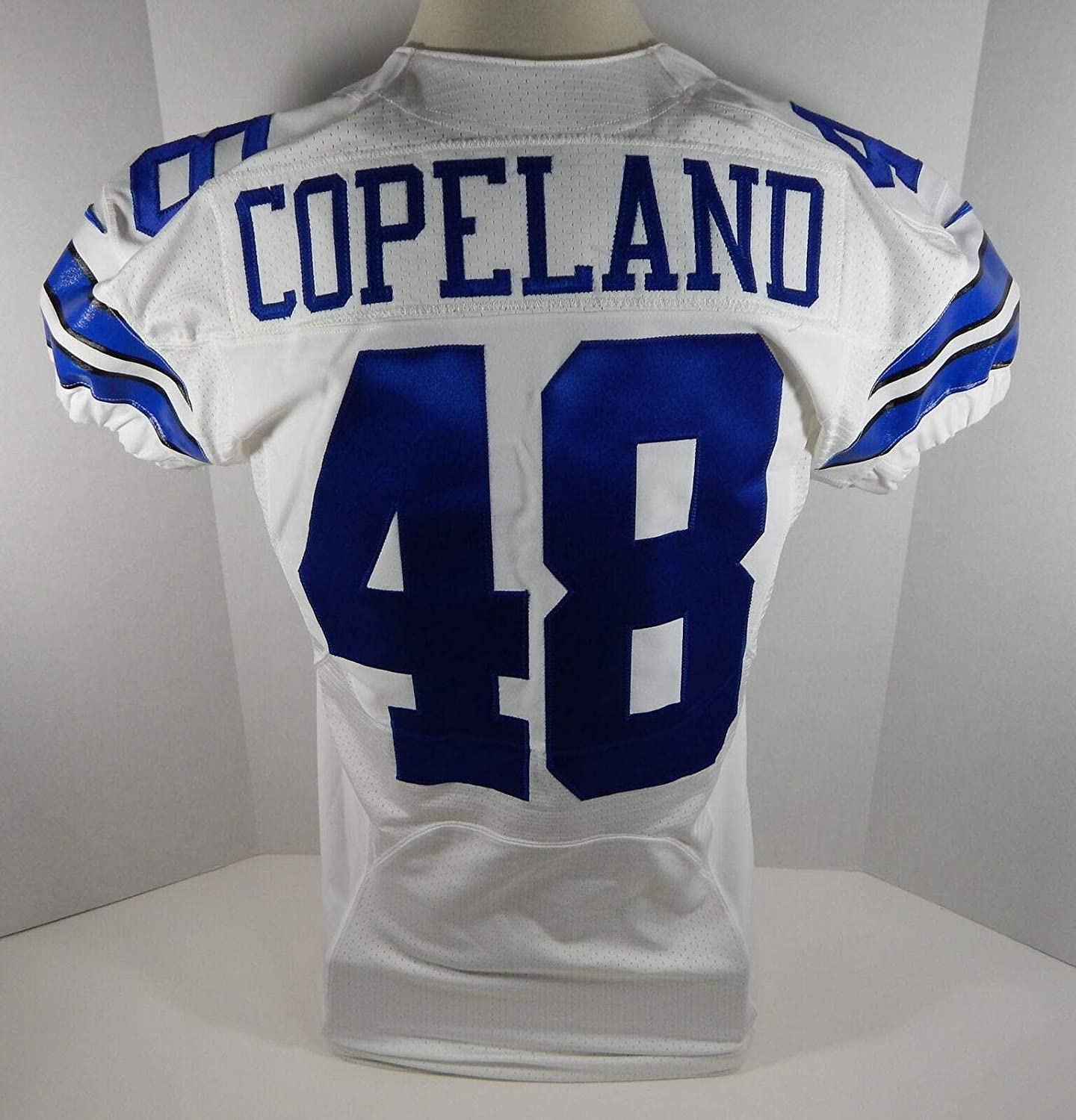 2013 Cowboys JC Copeland #48 Game Issued White Jersey - Unsigned NFL Game Used Jerseys