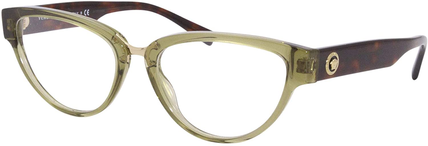 Versace VE3267 Eyeglass Frames 5293-53 - Transparent Green VE3267-5293-53