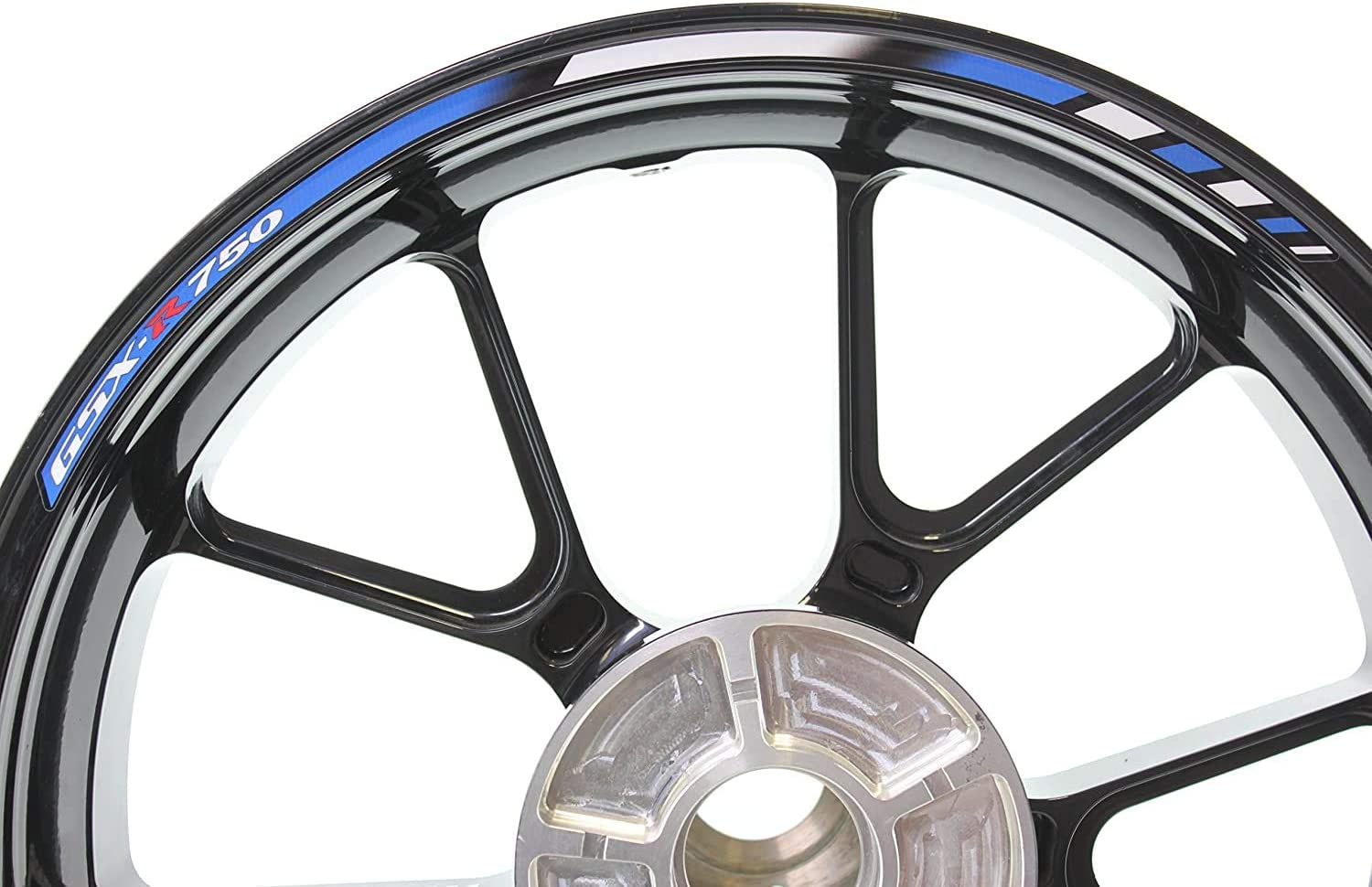 SpecialGP color-matched adhesive rim-striping wheel rim pin stripe pinstriping tape sticker decals for Suzuki GSX-R 750 17-inch wheels