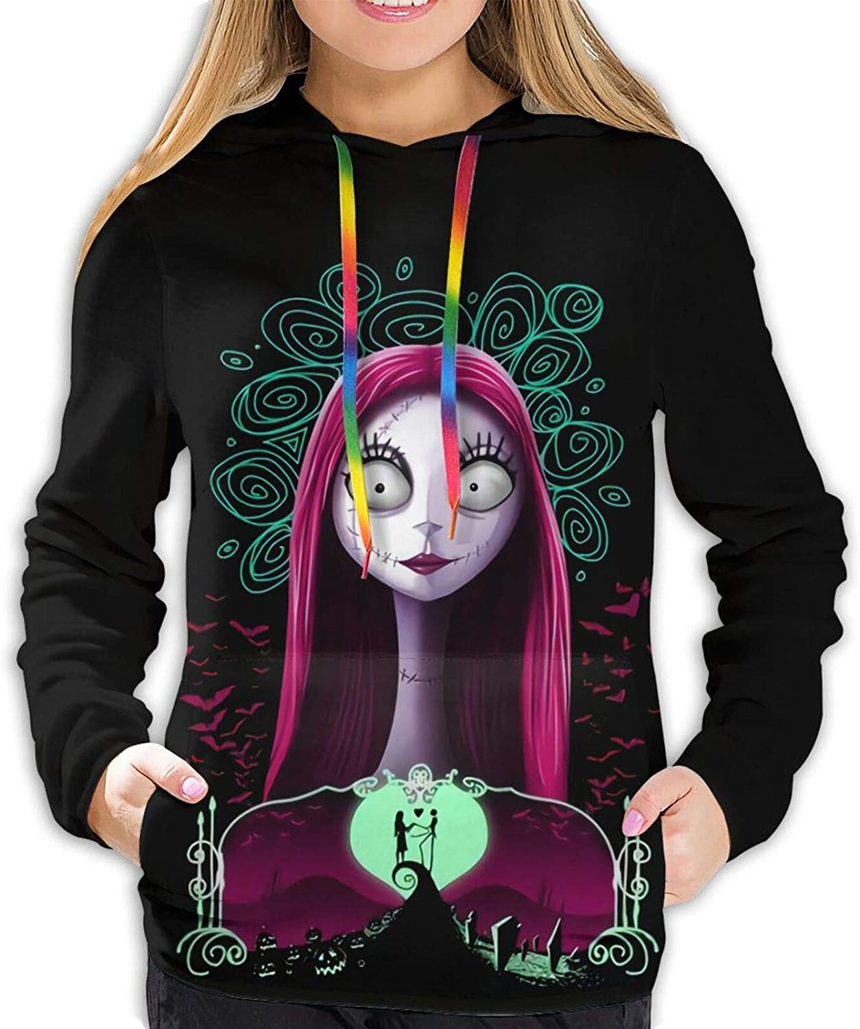 Anshun The Nightmare Before Christmas Women's Fashion Hoodie Hooded Pocket Sweater Casual Pullover