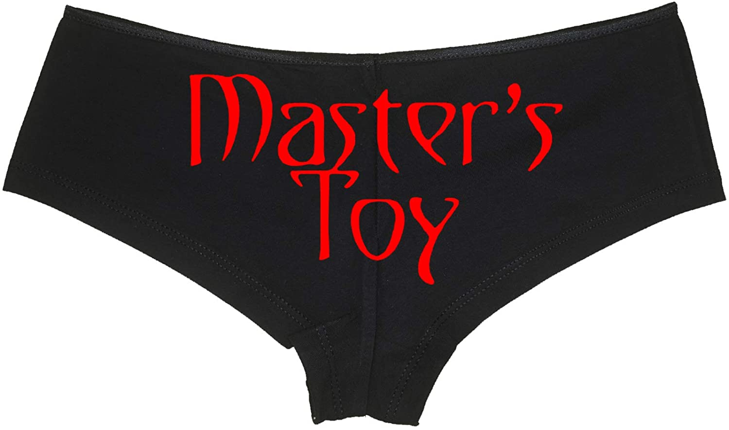 Knaughty Knickers Masters Toy for Owned BDSM Sub Slut DDLG Sexy Black Boyshort