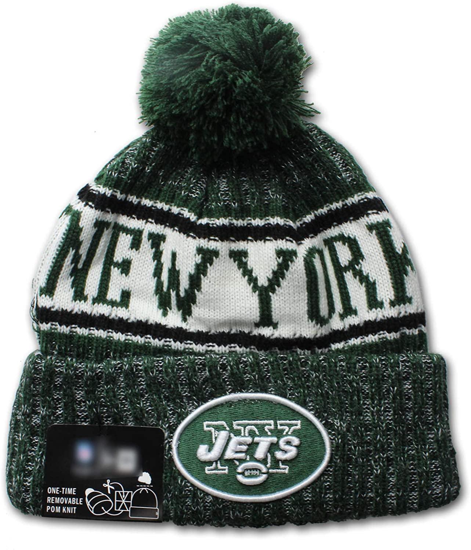 Tayee Team Logo Cap Cold Weather Sport Knit Hat Beanie Pom