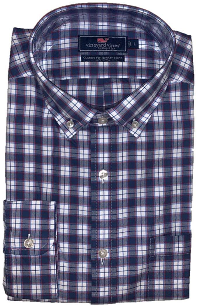 Vineyard Vines Men's Edgewater Plaid Classic Fit Murray Shirt