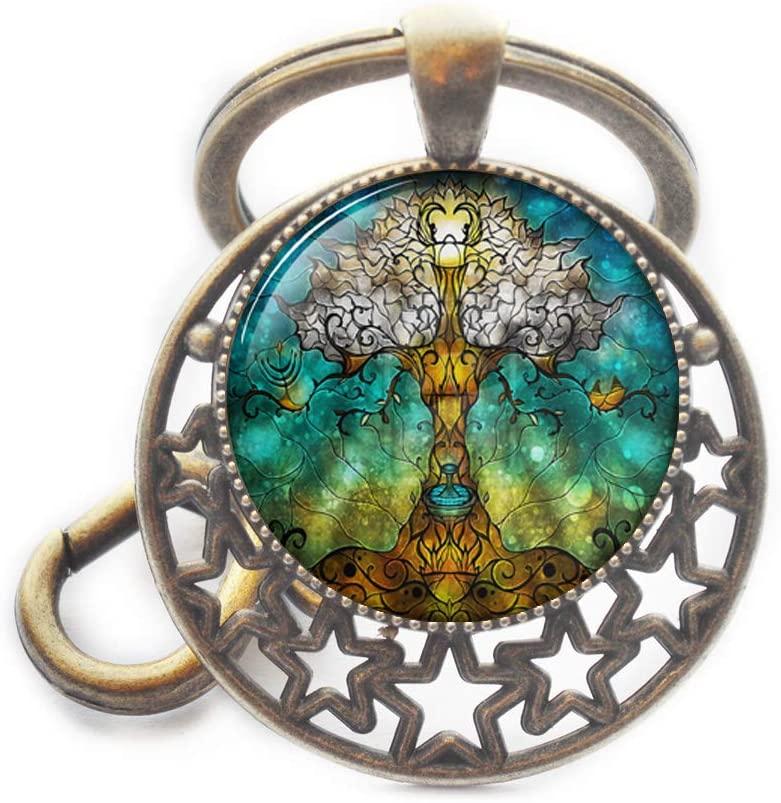 Tree of Life Keychain Tree of Life Key Ring Mother Gift Tree of Life Jewelry Tree Jewelry Birthday Gift Family Tree Art Key Ring Art Keychain,M277