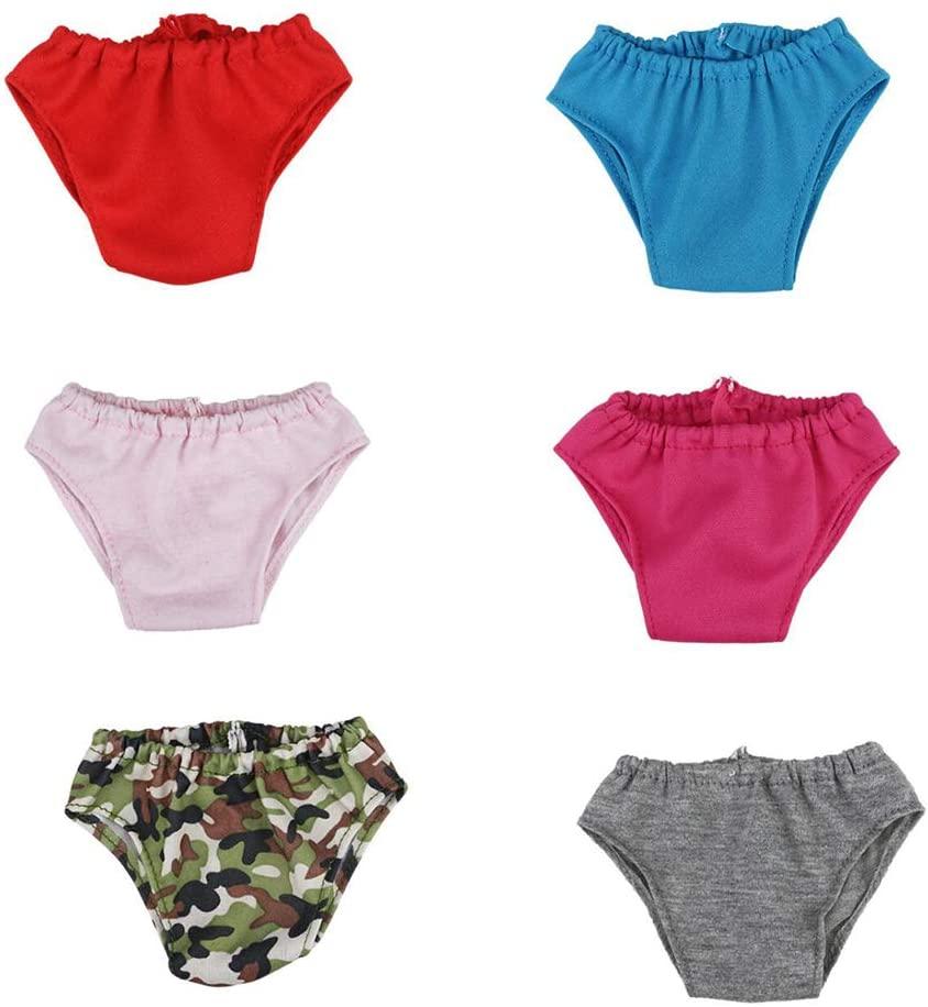 6pcs Cute Mini Underwear Creative Doll Panties Mini Briefs Bodyshorts Shorts Doll Accessories Clothes 18 Inch Girls Doll Clothing Supplies