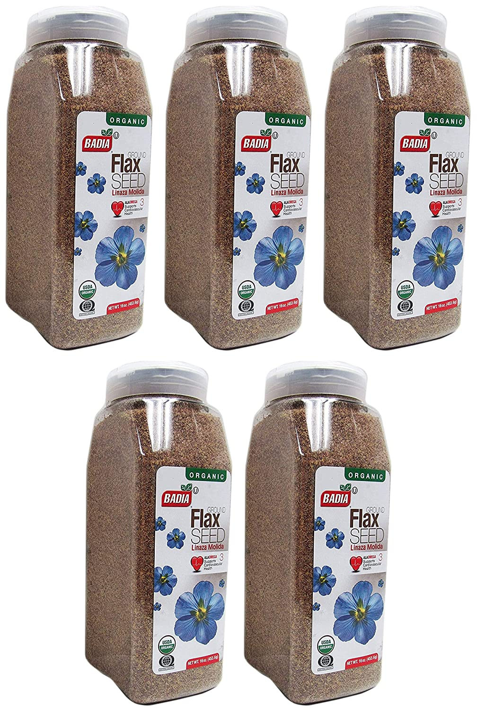 2 PACK- Organic Ground Flax Seed / Linaza Molida en Polvo Kosher 2x16 oz (Sеt оf Fіvе)