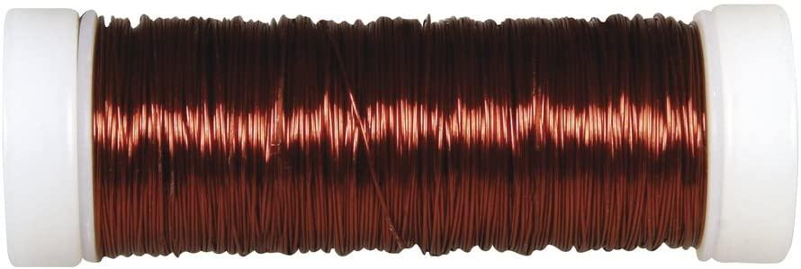 Rayher 2405505 Jewellery Crochet Wire 0.30 mm Diameter Spool 50 m Dark Brown