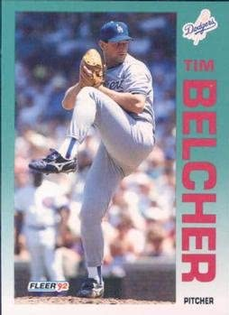 Tim Belcher 1992 Fleer Baseball Card #447 Los Angeles Dodgers
