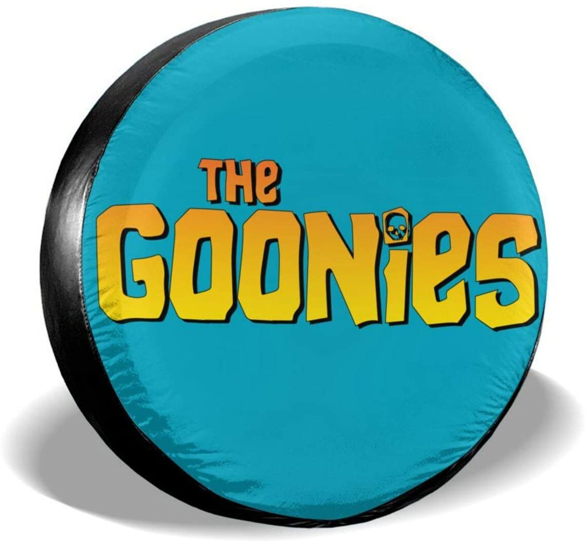Atsh The Goonies Spare Tire Cover PVC Leather Waterproof Dust-Proof Universal Spare Wheel Tire Cover Fit for Jeep,Trailer, Rv, SUV and Many Vehicle