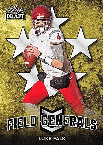 Luke Falk Football Card (Washington State Cougars, Tennessee Titans) 2018 Leaf Draft Field Generals #FG6 Rookie