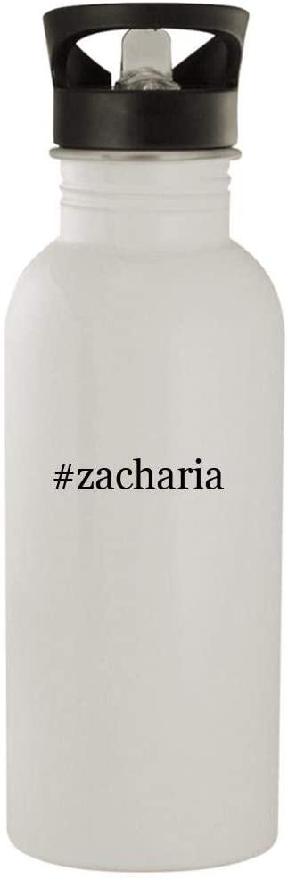 #zacharia - 20oz Stainless Steel Hashtag Outdoor Water Bottle, White