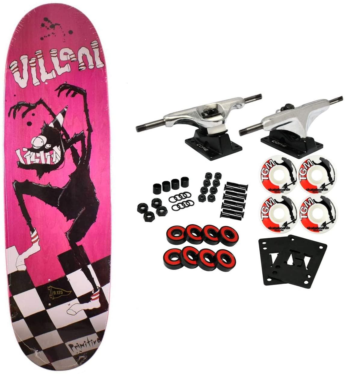 Primitive Skateboard Complete Villani Sock Monster 9.125
