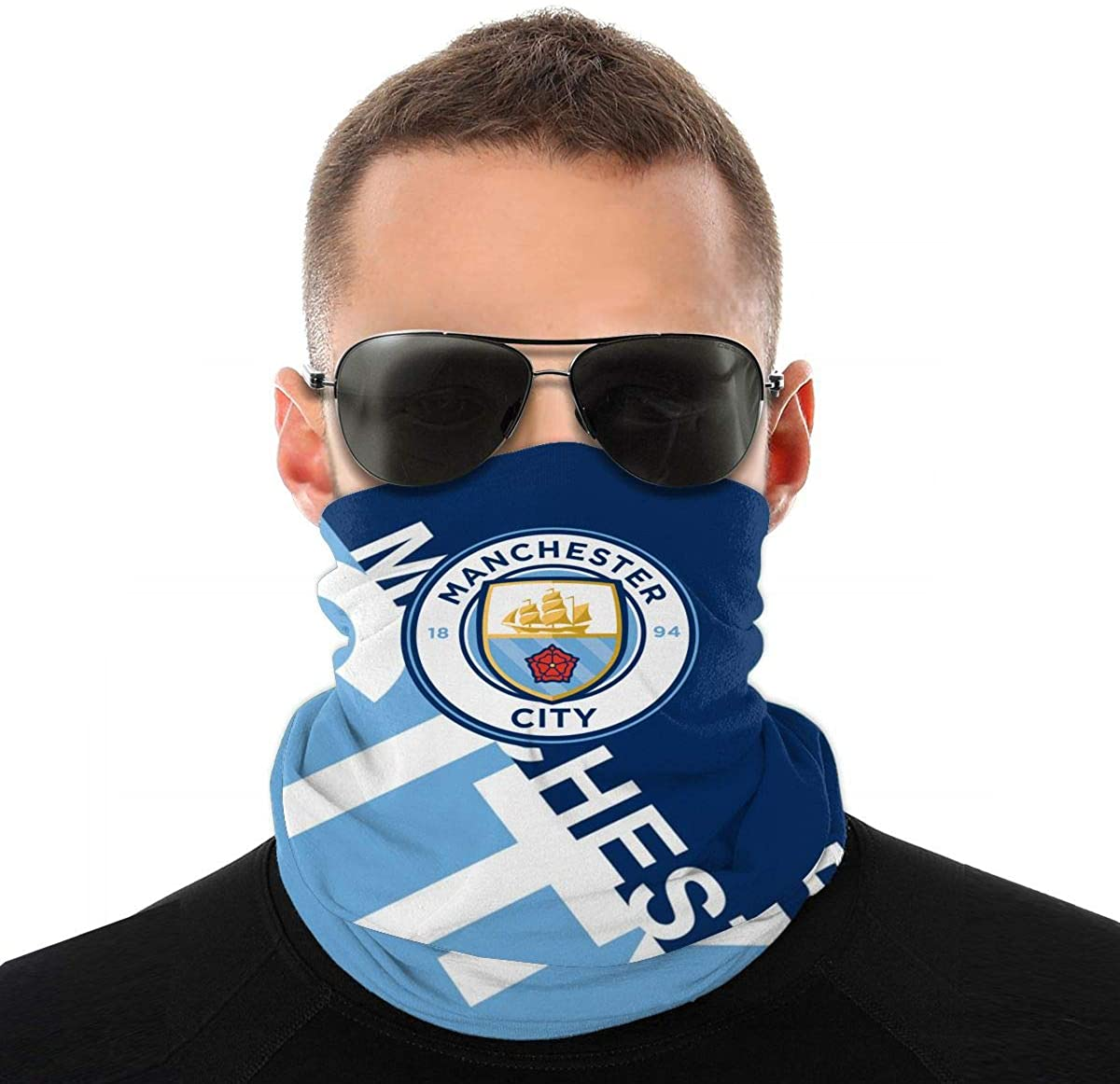 Football Club Face Cover Scarf Bandana, Soccer Neck Gaiter Mask Headwear for Men Women Sport Outdoor