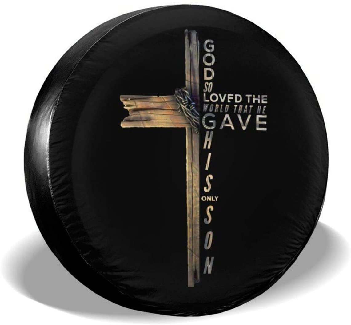 Armor of God Spare Tire Cover Not All Those Who Wander are Lost for Jeep Trailer Rv Truck 14 15 16 17 Inch Sunscreen Dustproof Corrosion Proof Wheel Cover