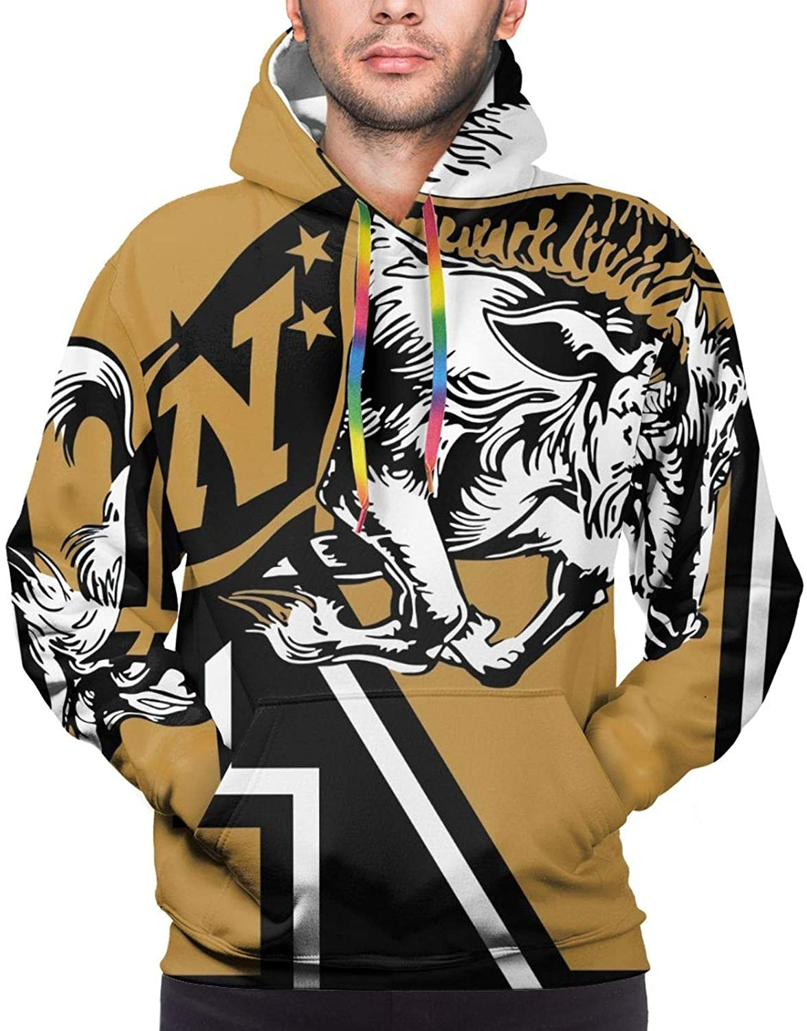 Shanke Fashion United States Naval Academy 3D Graphic Printed Men's Hoodie Sweater Comfortable Wear Resistant