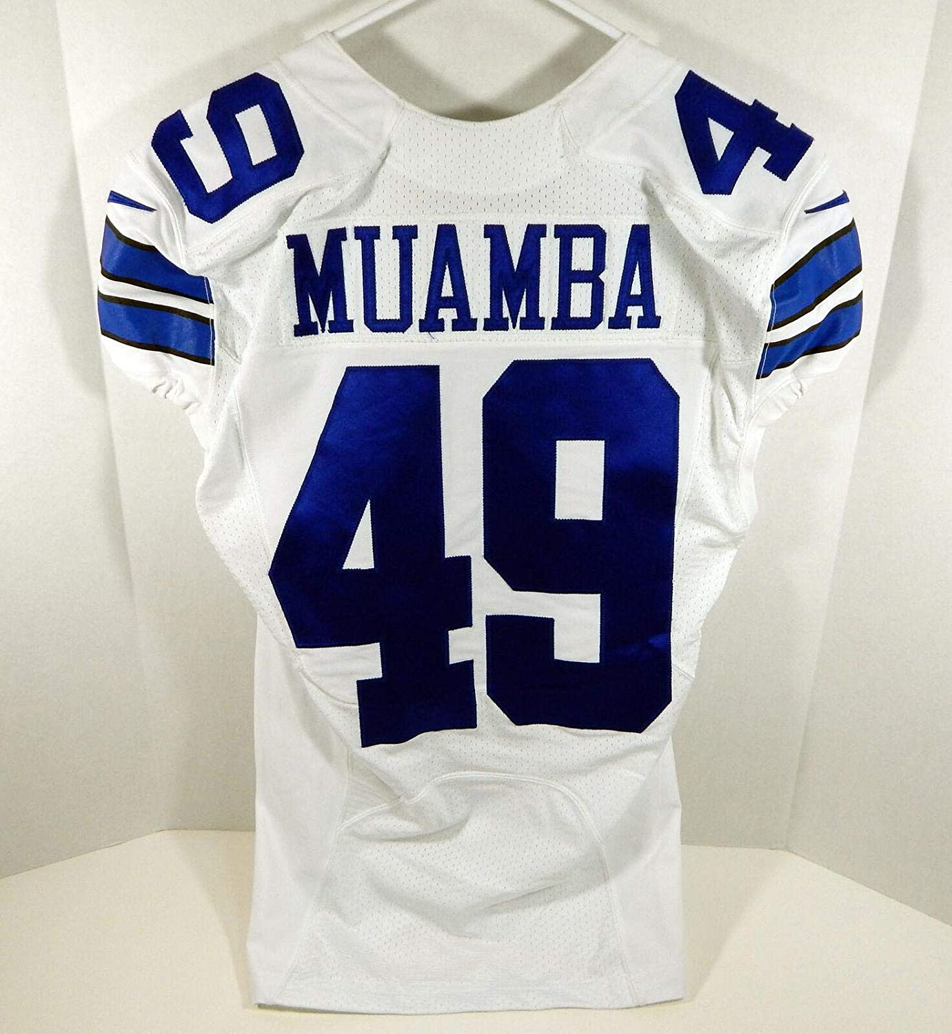 2016 Cowboys Henoc Muamba #49 Game Issued White Jersey - Unsigned NFL Game Used Jerseys
