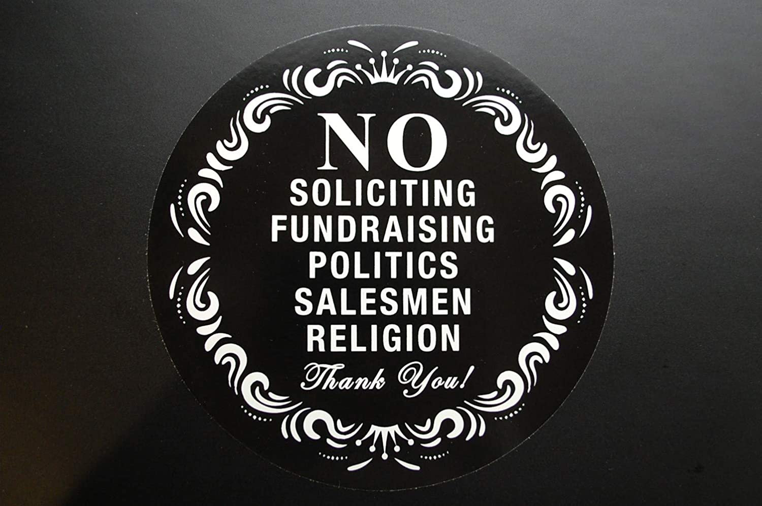 Five Star Graphics No Soliciting Sign Sticker 5