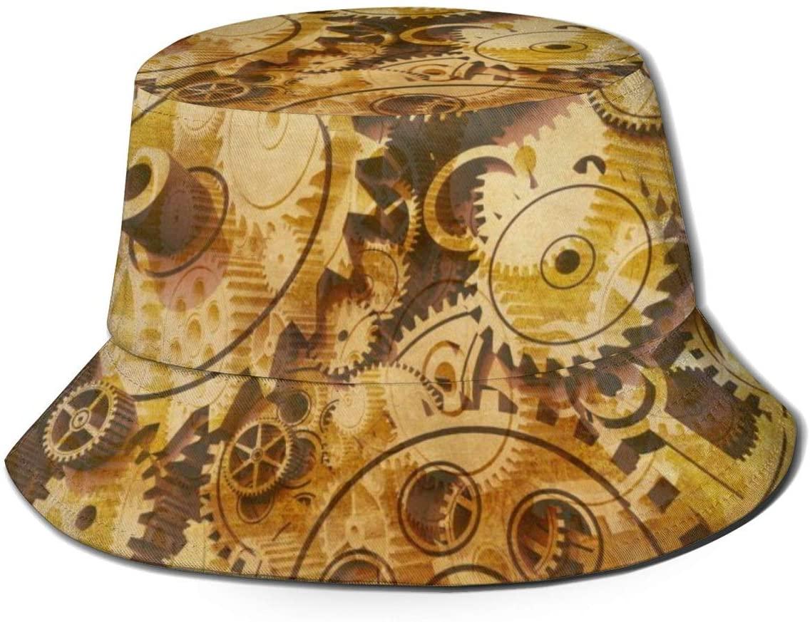 Lanbay Flat Top Breathable Bucket Hats Unisex Abstract, Colorful Paint Splash Bucket Hat Summer Fisherman's Hat