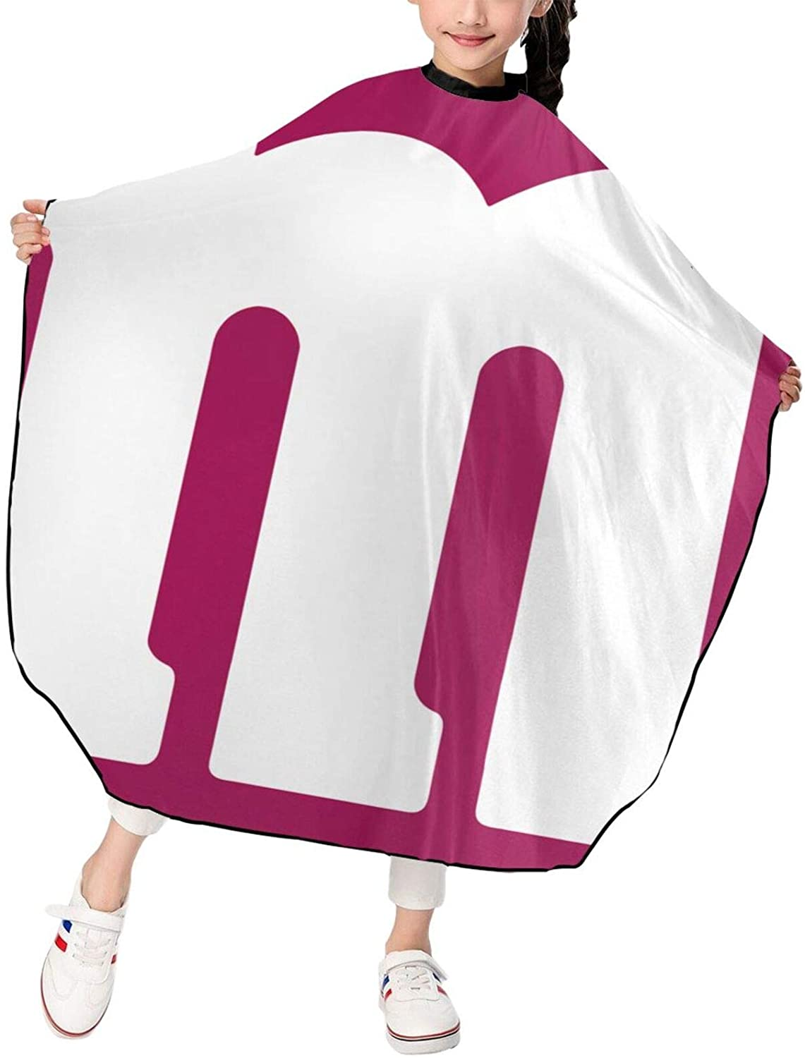 Elizadaisy M&M Professional Salon Hair Styling Cloth Apron Cover Gown Barber Cutting Cape Waterproof Adjustable Snap for Hairstylists