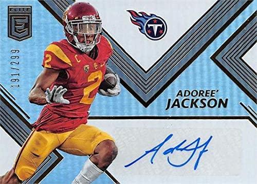 Adoree Jackson autographed Football Card (USC Trojans) 2017 Donruss Elite Rookie Refractor #RA5 LE 191/299