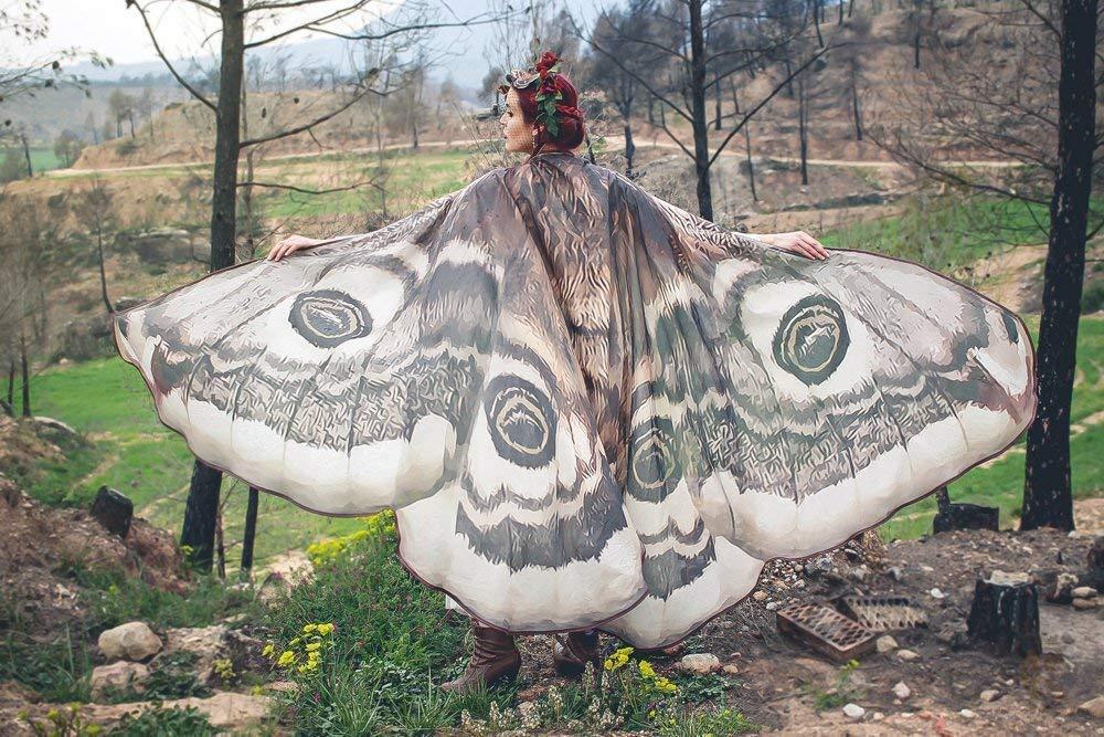 Moth wings halloween fantasy adult costume