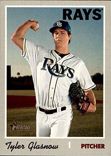 2019 Topps Heritage #538 Tyler Glasnow TAMPA BAY RAYS (Box230MP) MLB Baseball Trading Card