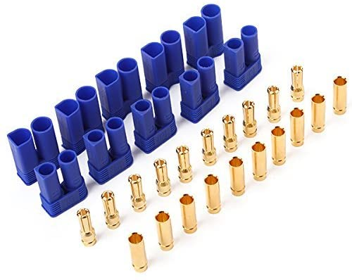 HARIKA EC5 Male Female Gold Plated Pins Connector of 5