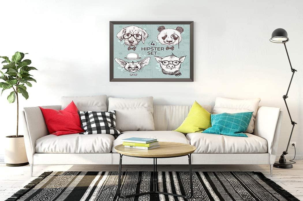 300 Pieces Jigsaw Puzzles Vintage Hipster Animal Glasses Labrador Puppy Panda Bear Fox Long Ears Pig 15.2
