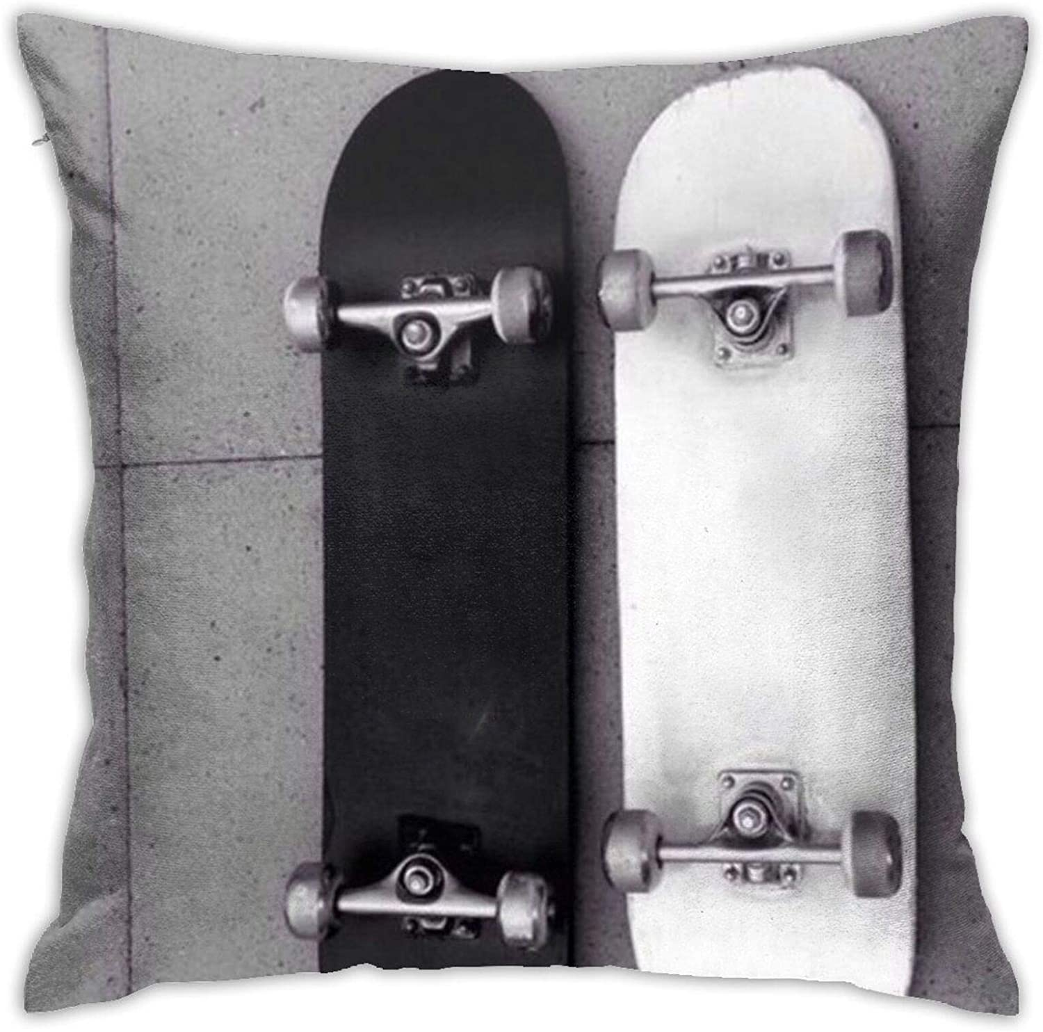 Pillow Covers 18x18inch, Skateboard Pillow Cases Square Cushion Cover Home Sofa Bedroom Decorative