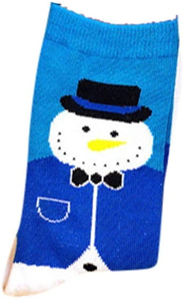 LENXH Unisex Cotton Christmas Stockings Cute Snowflake Santa Socks Holiday Cute Tube Socks Warm Socks