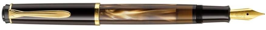 Pelikan Fine-Writing Pelikan Classic M200 Piston Fountain Pen Marbled Brown in Folding Box Spring F colour