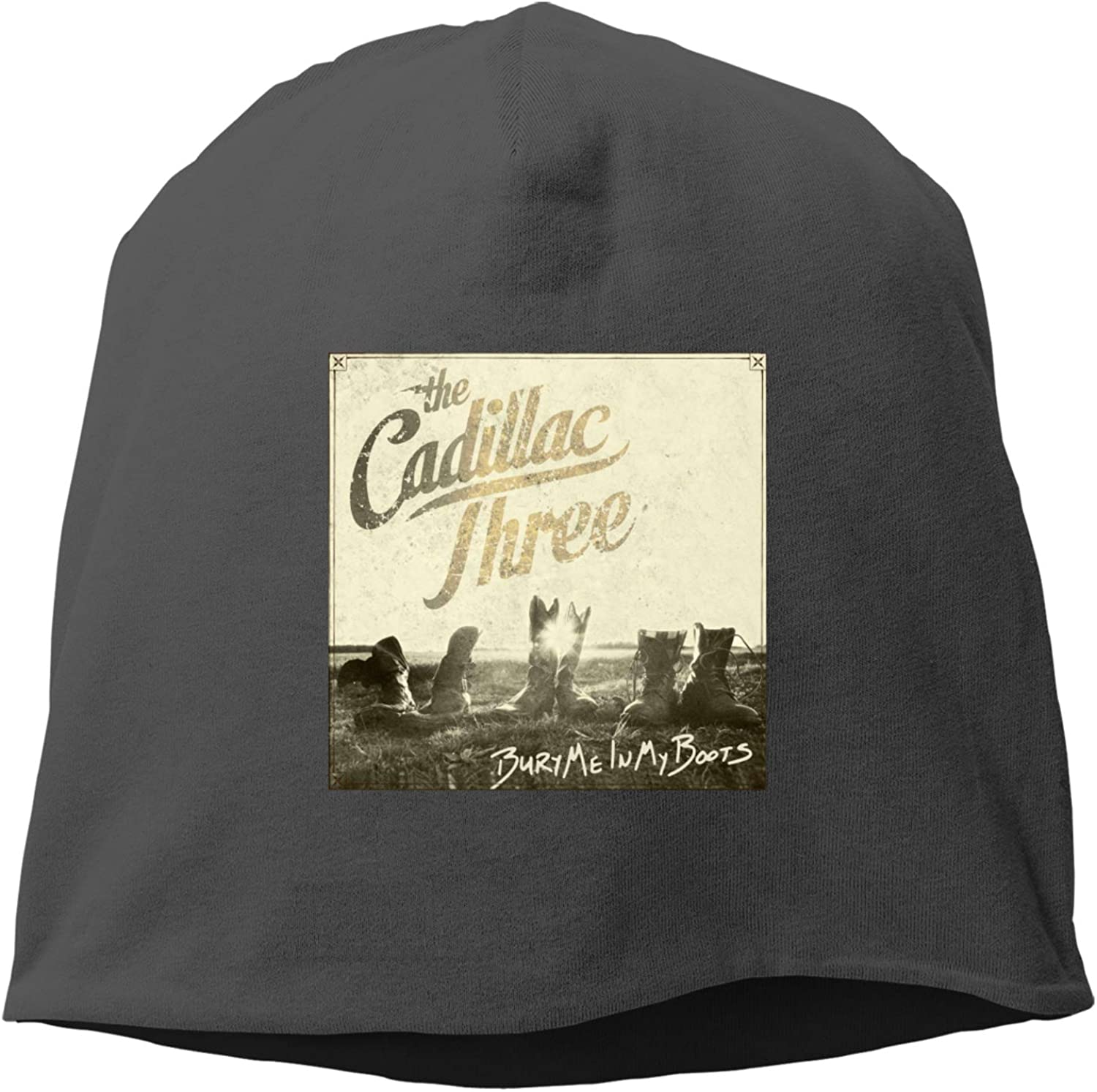 The Cadillac Three Casual and Fashionable Unisex Beanie, Warm and Comfortable Cap (Thin Type) Black
