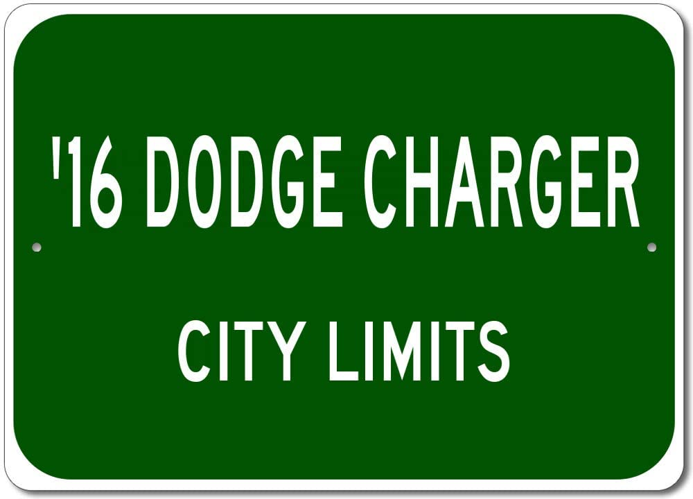 2016 16 Dodge Charger City Limits Sign, Garage Street Sign, Man Cave Sign, Metal Gift Sign - 10x14 inches