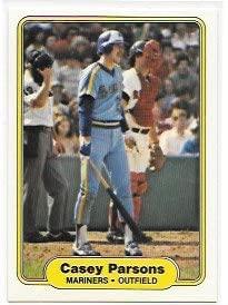 Casey Parsons 1982 Fleer Seattle Mariners Card #515