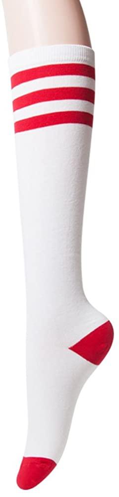 Sockstheway Womens Casual Knee High Tube Socks with Triple Stripes